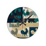 Diseño del arte del gallo reloj de pared
