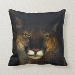 Diseño del arte del león de montaña del puma del almohada