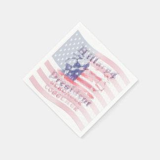 Diseño del arte del país de la bandera nacional de servilleta desechable
