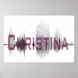 Diseño del arte gráfico de Christina Sononome Poster