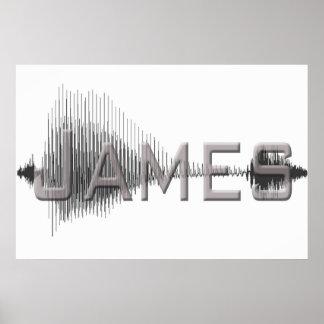 Diseño del arte gráfico de James Sononome Posters