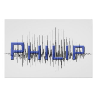 Diseño del arte gráfico de Philip Sononome Impresiones