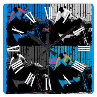 Diseño del arte moderno del Multi-panel del oso de Reloj Cuadrado