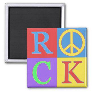 Diseño del arte pop de la roca imán cuadrado
