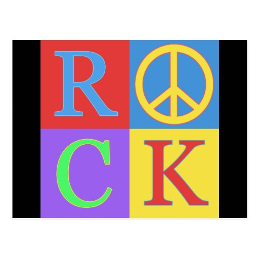 Diseño del arte pop de la roca postales
