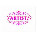Diseño del artista postal