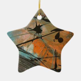 Diseño del astract del cometa adorno de cerámica en forma de estrella