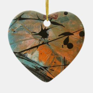 Diseño del astract del cometa adorno de cerámica en forma de corazón