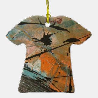 Diseño del astract del cometa adorno de cerámica en forma de camiseta
