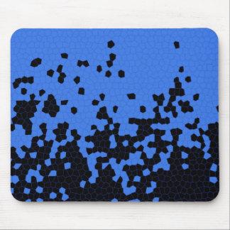 Diseño del azul y del negro tapetes de ratones