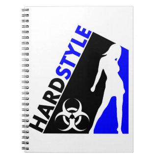 Diseño del bailarín y del Biohazard de Hardstyle Libretas Espirales