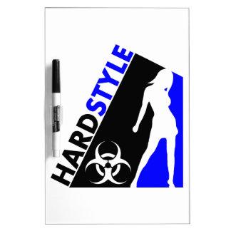 Diseño del bailarín y del Biohazard de Hardstyle Tableros Blancos