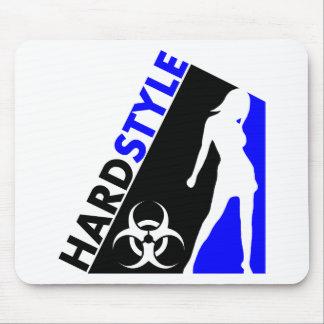 Diseño del bailarín y del Biohazard de Hardstyle Alfombrillas De Ratones