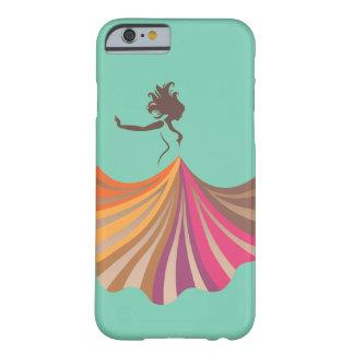 diseño del baile del chica de la silueta del funda de iPhone 6 barely there