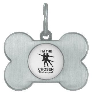 diseño del ballet del ballet placas de nombre de mascota