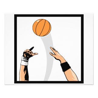 """diseño del baloncesto de la bola de salto folleto 4.5"""" x 5.6"""""""