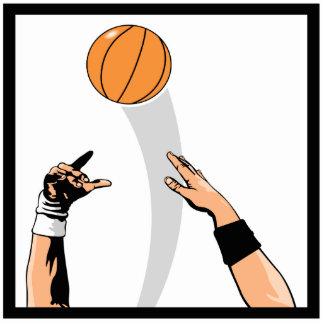 diseño del baloncesto de la bola de salto fotoescultura vertical