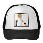 diseño del baloncesto de la bola de salto gorras de camionero
