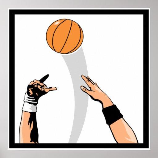diseño del baloncesto de la bola de salto poster