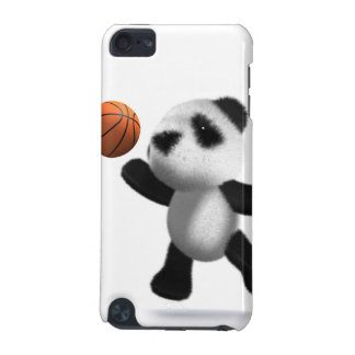 diseño del baloncesto de la panda del bebé 3d para funda para iPod touch 5G