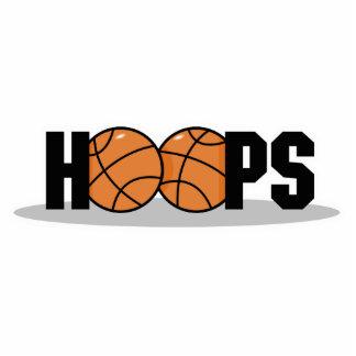 diseño del baloncesto de los aros fotoescultura vertical