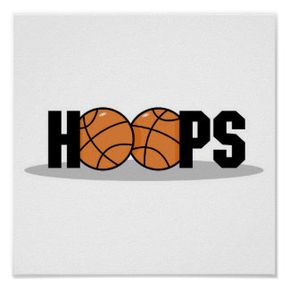diseño del baloncesto de los aros póster