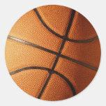 Diseño del baloncesto pegatina
