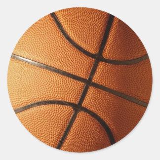 Diseño del baloncesto pegatina redonda