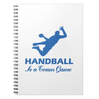 diseño del balonmano cuadernos