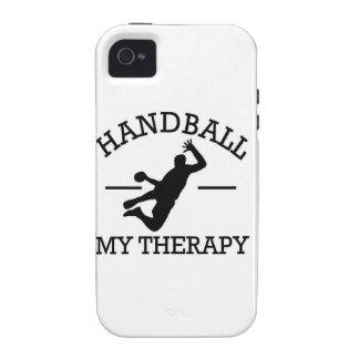 diseño del balonmano iPhone 4/4S fundas