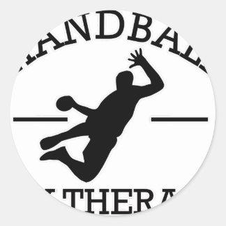 diseño del balonmano pegatina redonda