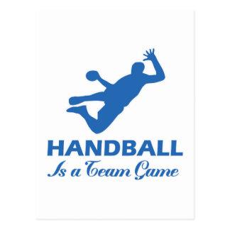 diseño del balonmano tarjetas postales