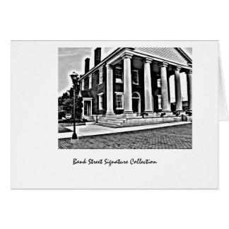 Diseño del Banco-Decatur viejo del estado, AL del  Tarjeta Pequeña