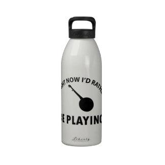 diseño del banjo botella de beber