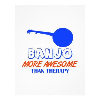 diseño del banjo membretes personalizados