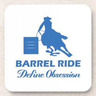 diseño del barril-montar a caballo posavasos de bebidas