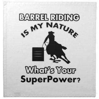 diseño del barril-montar a caballo servilletas imprimidas