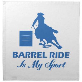 diseño del barril-montar a caballo servilletas de papel