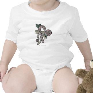 Diseño del bastón de caramelo del vitral traje de bebé