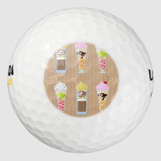 Diseño del batido de leche de la diversión pack de pelotas de golf