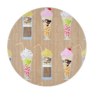 Diseño del batido de leche de la diversión tabla de cortar