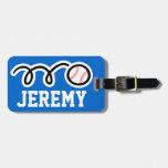 Diseño del béisbol de la etiqueta el | del equipaj etiqueta para maleta