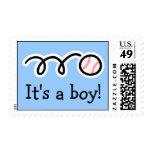 Diseño del béisbol de los sellos del bebé el  