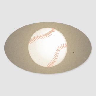 Diseño del béisbol del vintage. Modelo del deporte Pegatina Ovalada