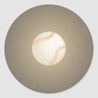 Diseño del béisbol del vintage. Modelo del deporte Pegatina Redonda