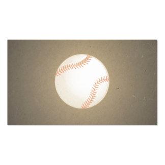 Diseño del béisbol del vintage. Modelo del deporte Tarjetas De Visita
