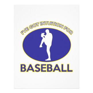 diseño del béisbol plantillas de membrete