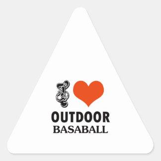 diseño del béisbol pegatina triangular