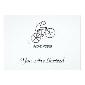 """Diseño del Bicyclist de la diversión con """"el texto Invitación 5"""" X 7"""""""