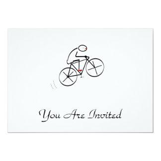 """Diseño del Bicyclist de la diversión Invitación 5"""" X 7"""""""